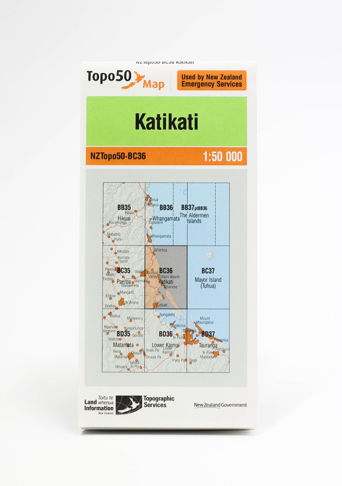 Land information NZ Topo 50-BC3 Katikati
