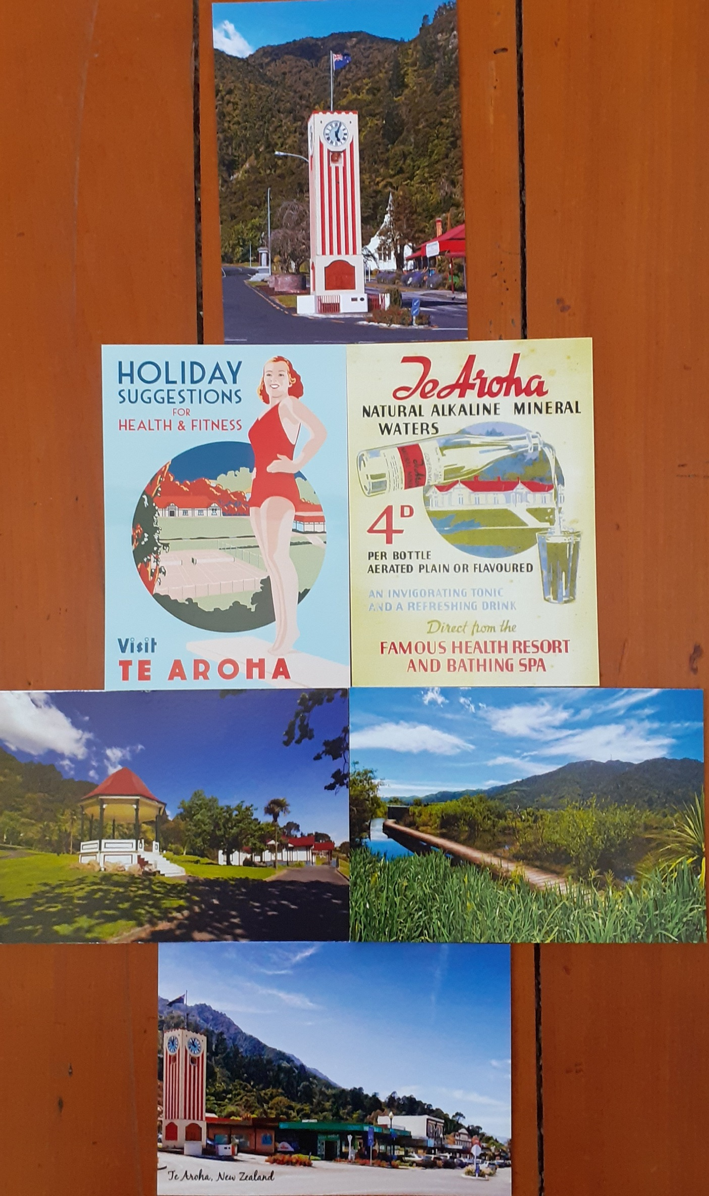 Te Aroha Postcard Pack 5