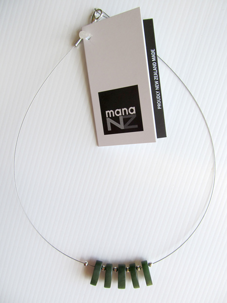 Mana Greenstone and Silver Wire Necklace CKA921